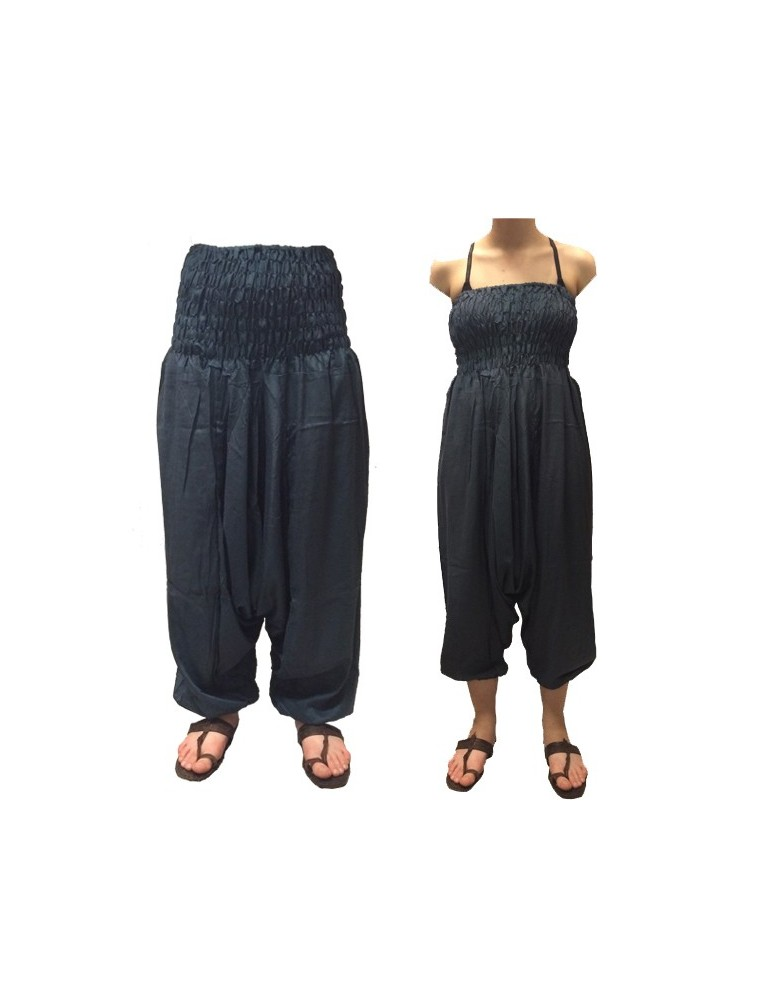 Sarwal Pant - Charcoal Blue Solid